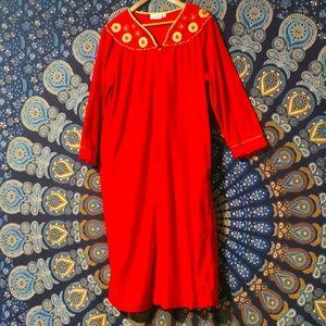 Gorgeous Vintage Vanity Fair Soft Red Velour Robe